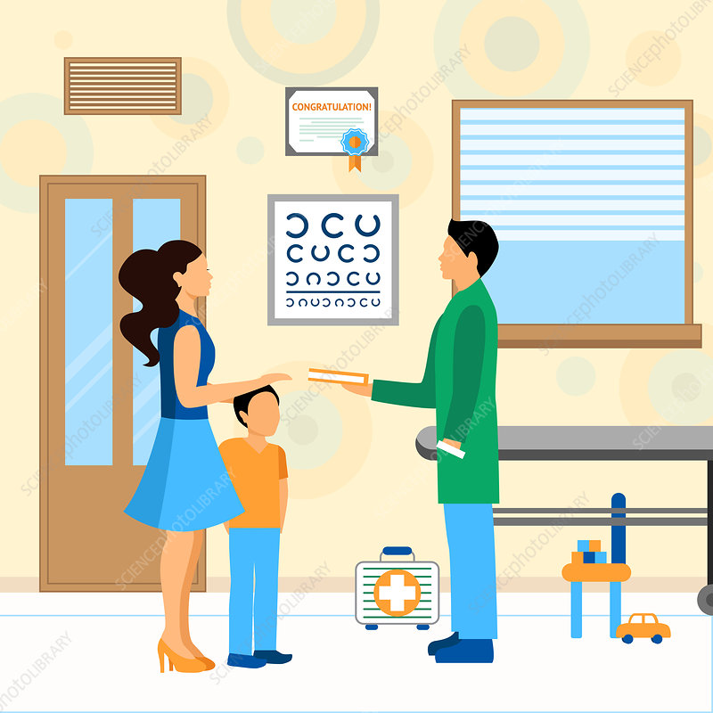 Paediatric appointment, illustration