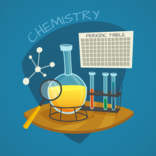 Chemistry experiment, illustration
