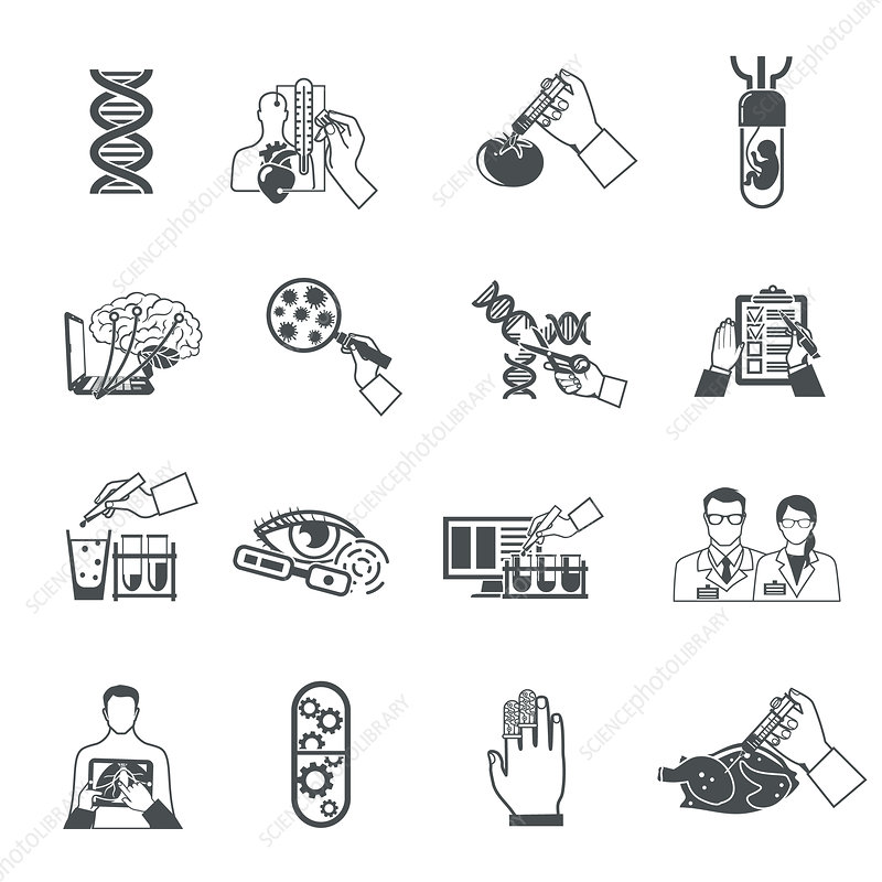 Science icons, illustration