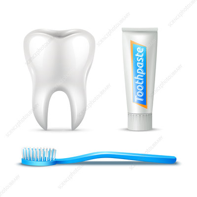 Dental hygiene, illustration