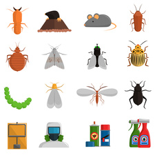 Pest control icons, illustration
