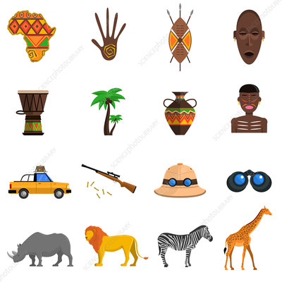 Safari icons, illustration