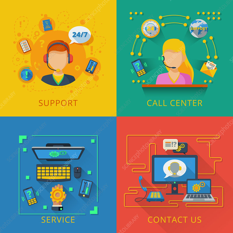 Customer service, illustration