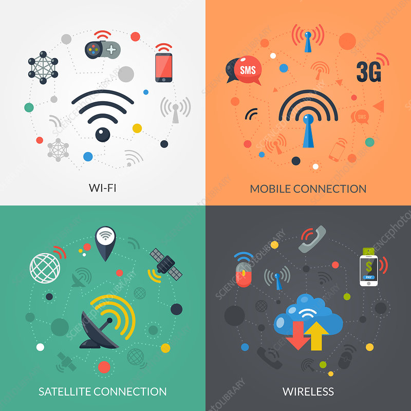 Wireless technology, illustration