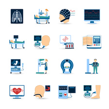 Diagnostics icons, illustration