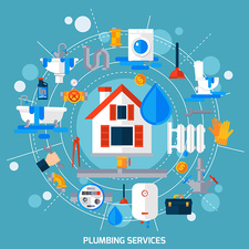 Plumbing services, illustration