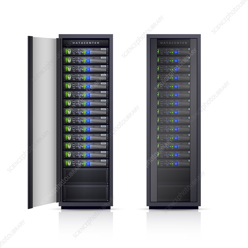 Server racks, illustration