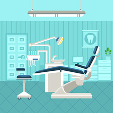 Dental office, illustration