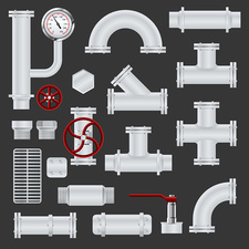 Pipeline icons, illustration