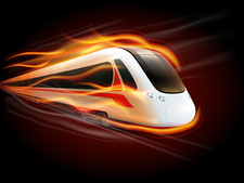 High-speed train, illustration