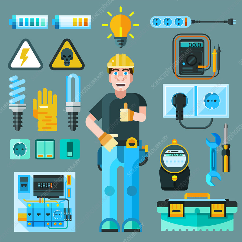 Electrician, illustration