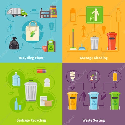 Recycling, illustration