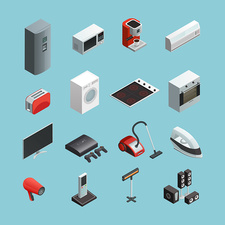 Electrical appliances, illustration