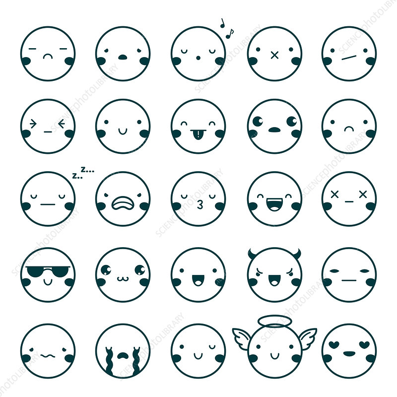 Emoticons, illustration