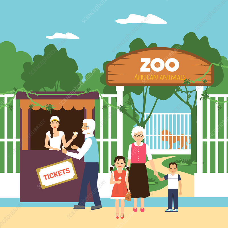 Trip to the zoo, illustration