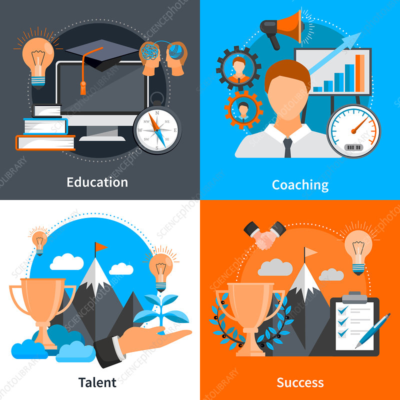 Mentoring and coaching, illustration