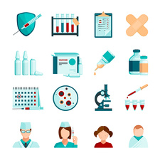 Vaccination icons, illustration