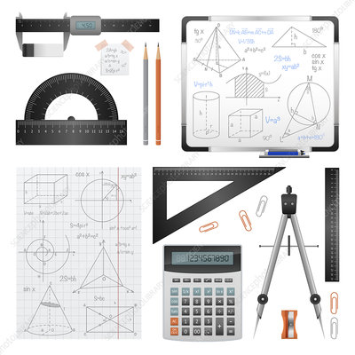Mathematical equipment, illustration