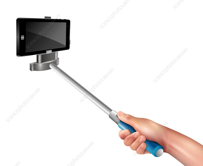 Selfie stick, illustration