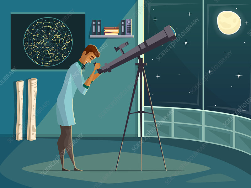 Astronomer, illustration