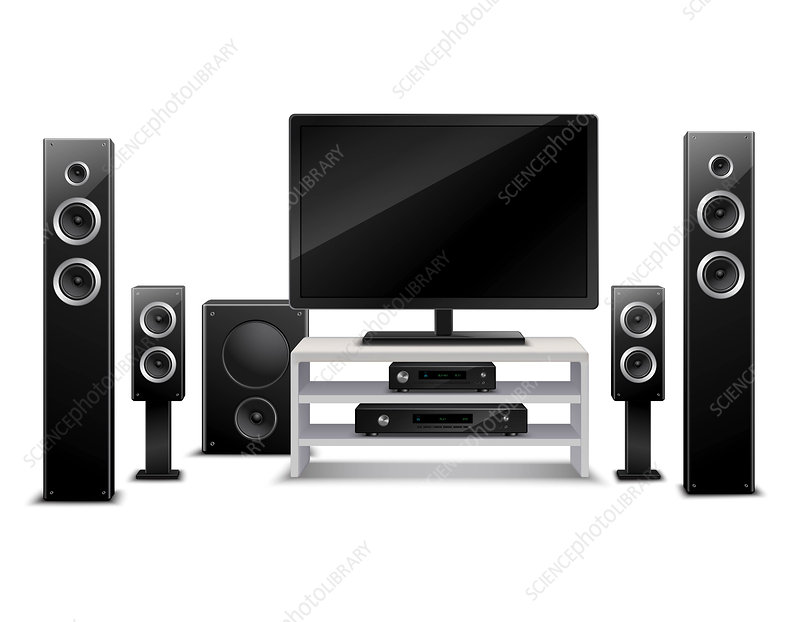 Home theatre equipment, illustration