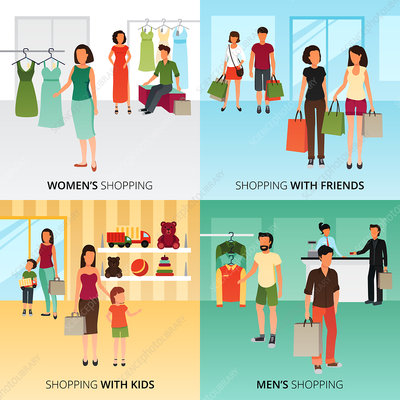 Shopping, illustration
