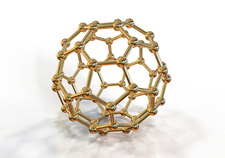 Buckyball nanoparticle, illustration