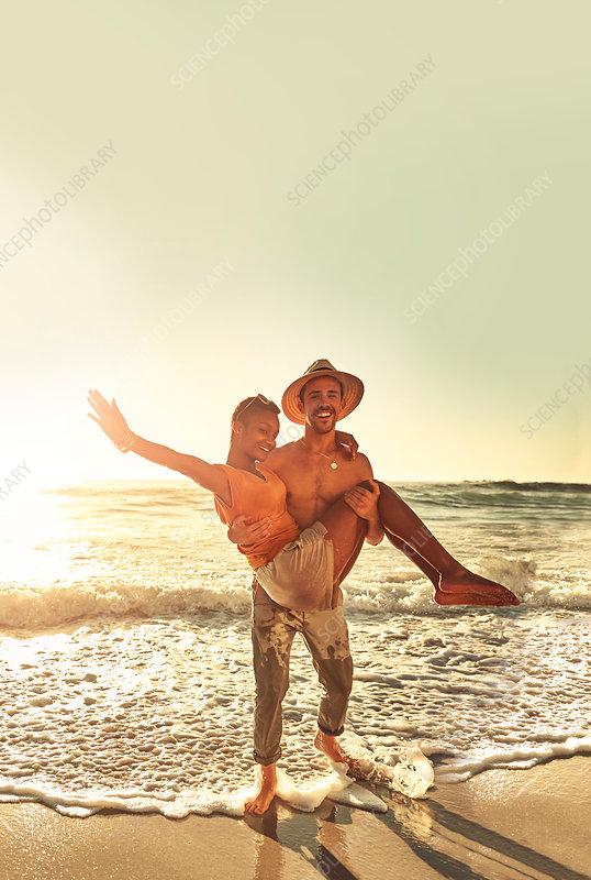Portrait playful young couple