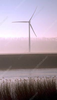 Wind turbine by River Trent