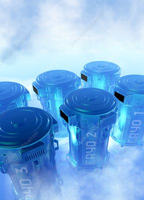 Cryogenics containers, illustration