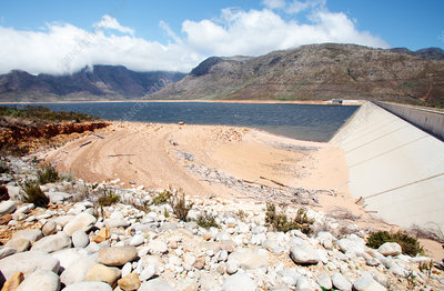 Berg river dam during drought