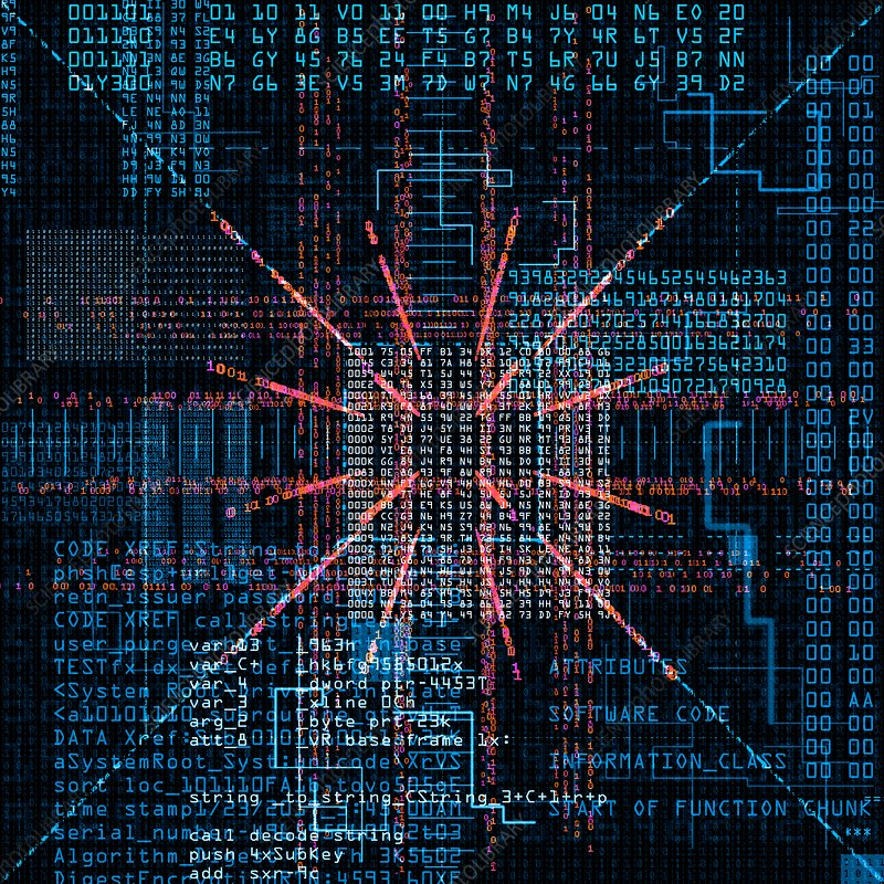 Computer code, illustration