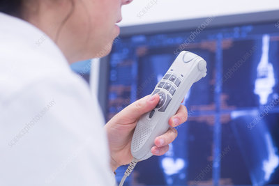 Radiologist recording results