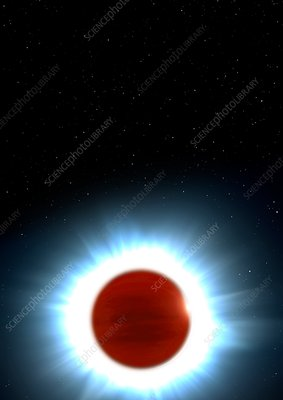 Exoplanet Kelt 9b, illustration
