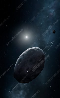 Haumea and moons, illustration