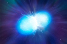 Merging neutron stars, illustration