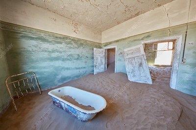 Bathroom in derelict building