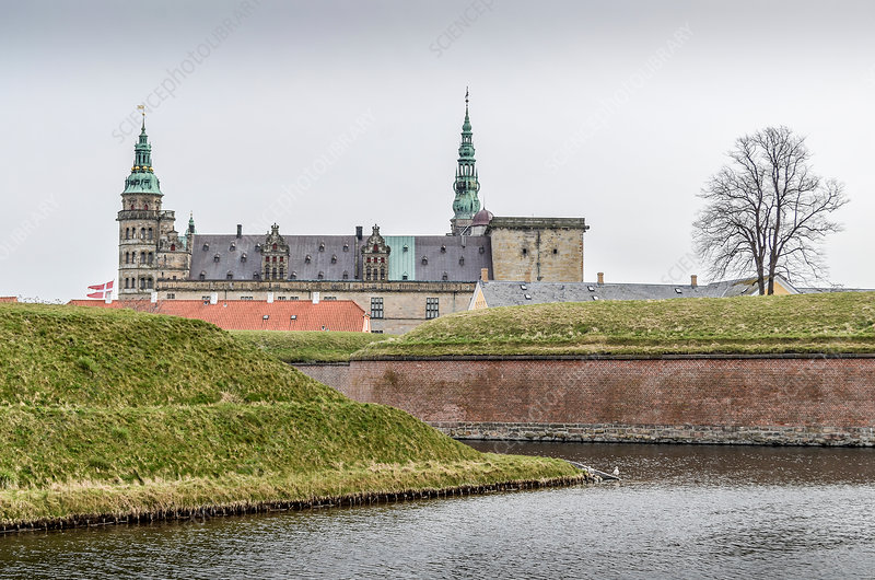 Exterior view of Kronborg Castle, Denmark