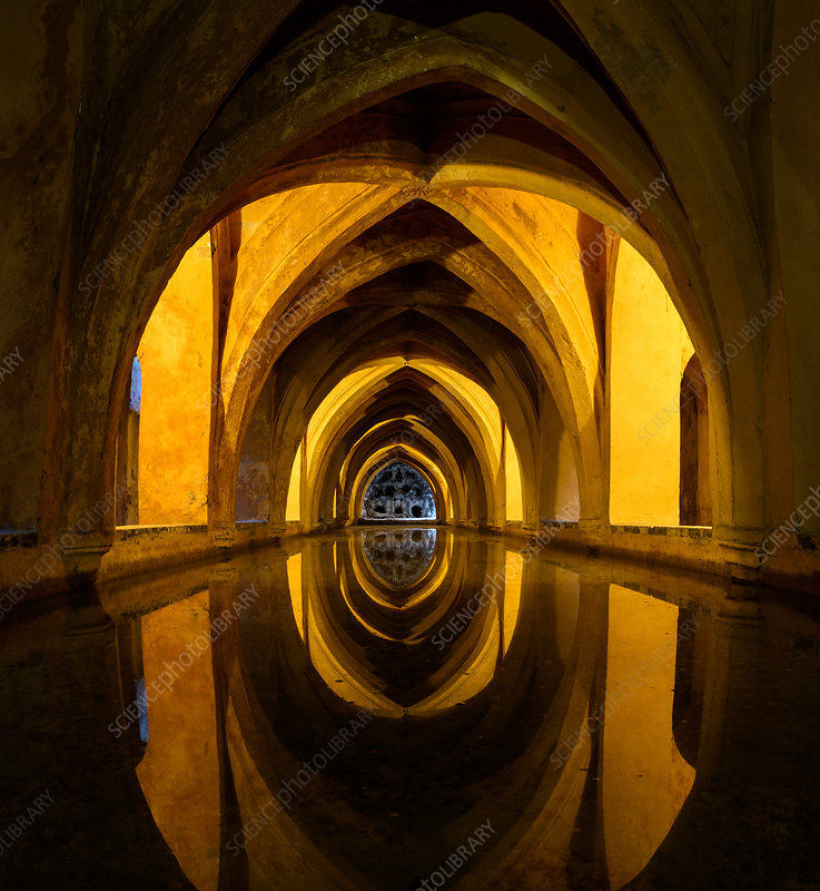 Rainwater bath in the Alcazar de Seville
