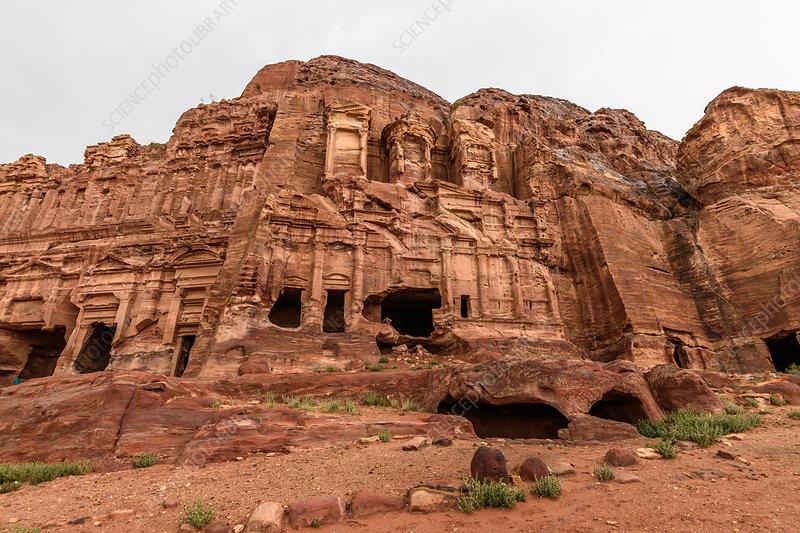 Rock-cut architecture at Petra, Jordan