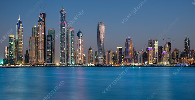 Cityscape of Dubai, United Arab Emirates