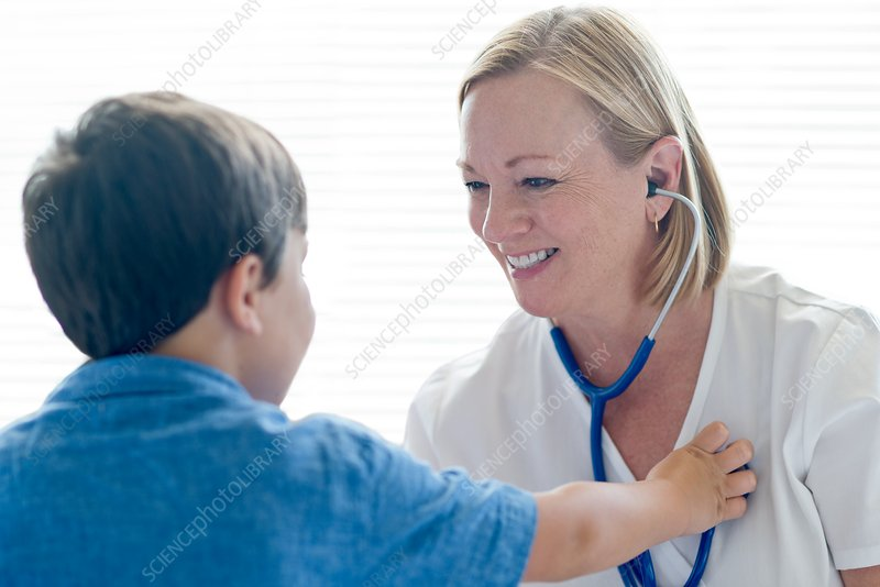 Nurse wearing stethoscope