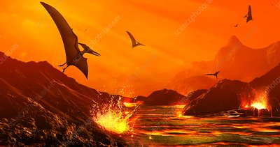 Dinosaur extinction event, illustration