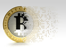 Artwork of Bitcoins