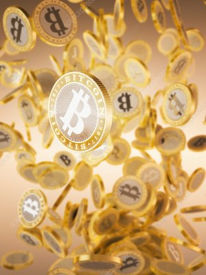 Bitcoins, illustration