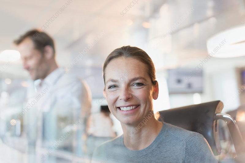 Portrait smiling businesswoman