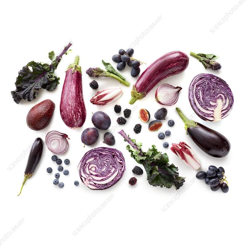 Fresh purple produce