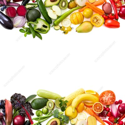 Colourful fresh produce