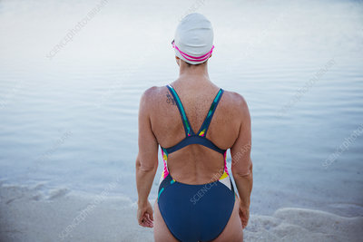 Female swimmer standing