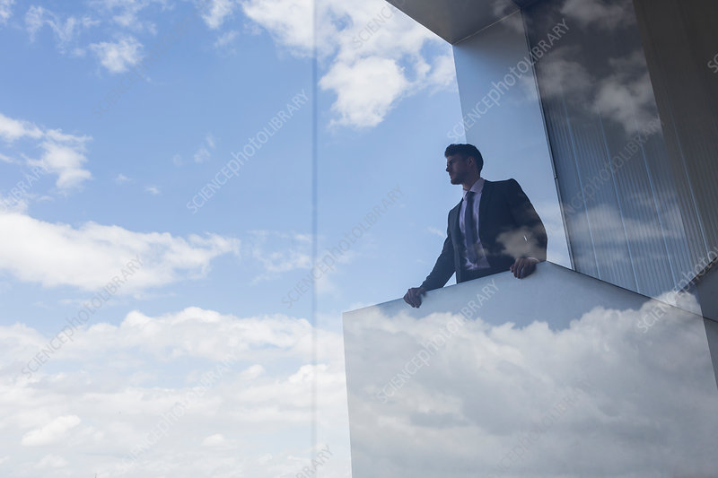Businessman out window